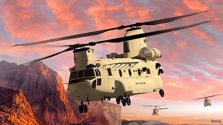 Boeing Tests Chinook Block II with New Blades